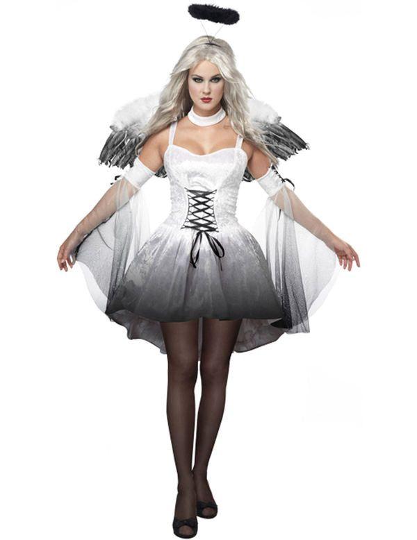 Gevallen Donker Engel Kostuum - Dark Angel Vrouw