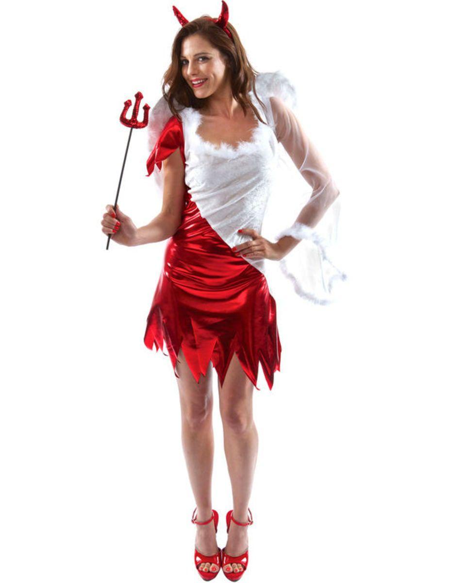 Half Engel Half Duivel Spannend Jurkje Vrouw