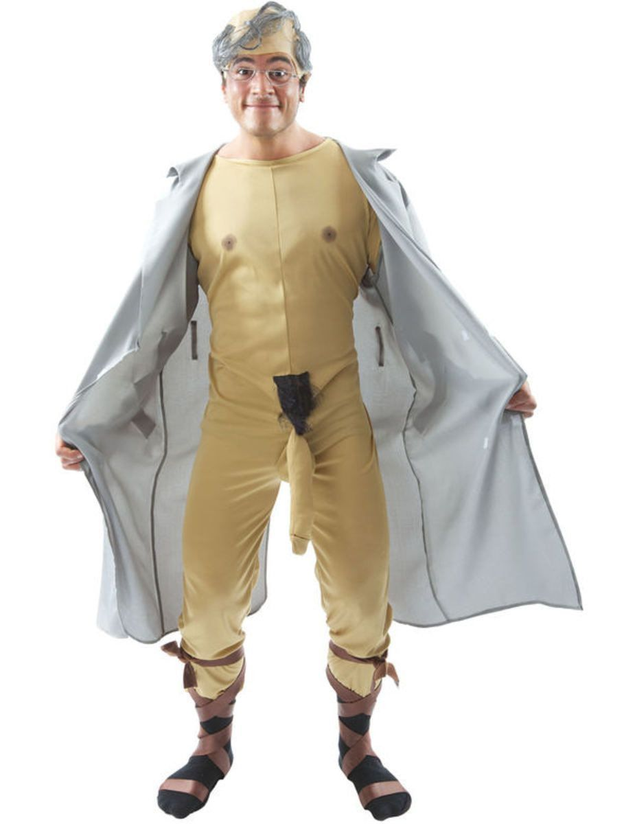 Vieze Oude Potloodventer Man Kostuum