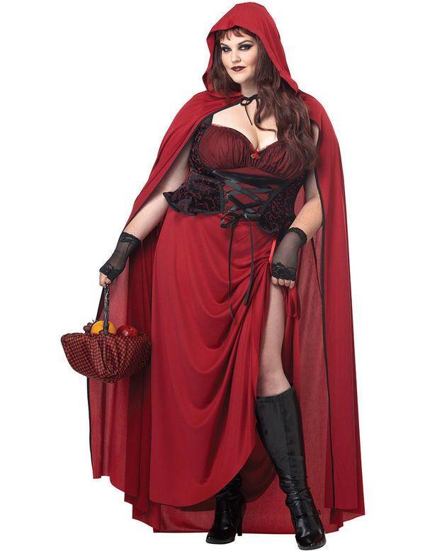 Roodkapje Kostuum (Grote Maat) Vrouw