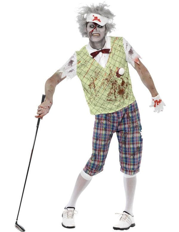 Zombie Golfer Man Kostuum