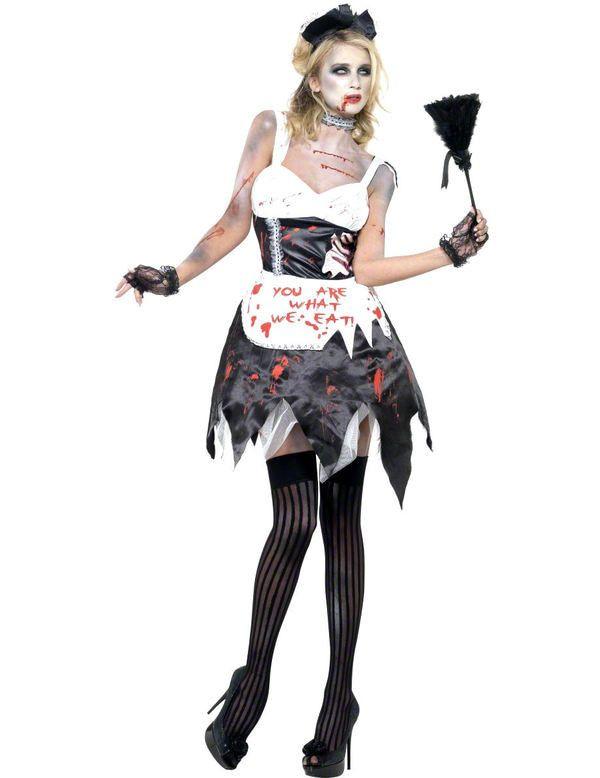 Zombie Kamermeisje Vrouw Kostuum