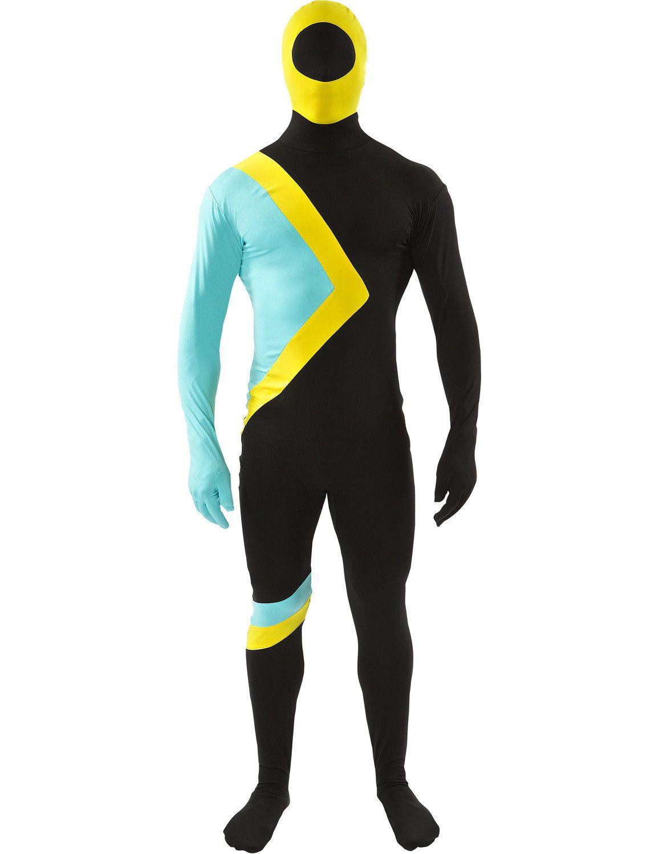 Volwassen Cool Runnings Jamaicaans Bobslee Team Skinsuit Man Kostuum