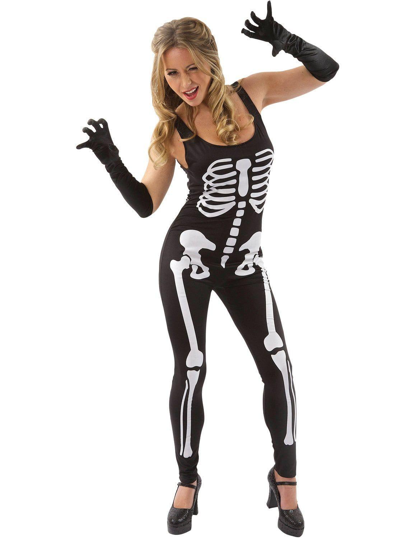 Zwart Skelet Jumpsuit Pak Vrouw