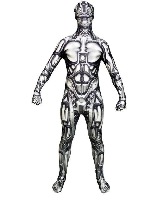 Android Robot Morphsuit Man Kostuum