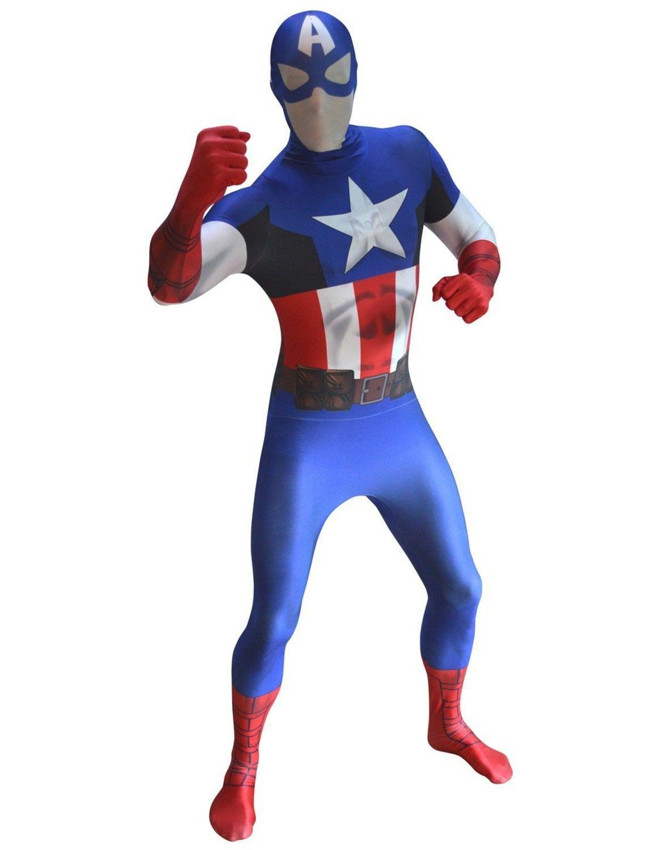 Captain America Superhelden Morphsuit Man Kostuum