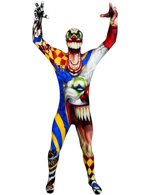 Kinder Horror Clown Morphsuit Jongen Kostuum
