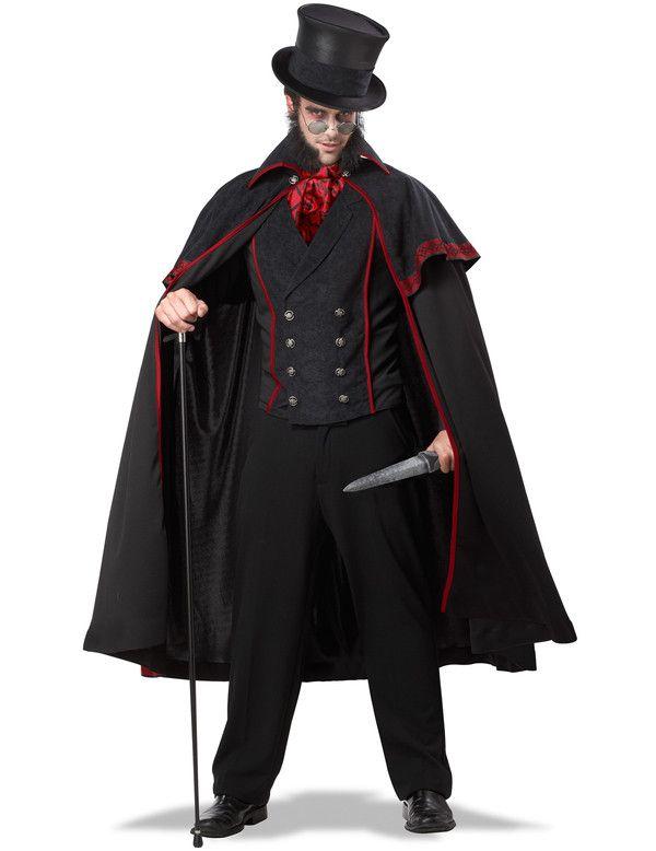 Chique Jack The Ripper Kostuum Met Cape Man