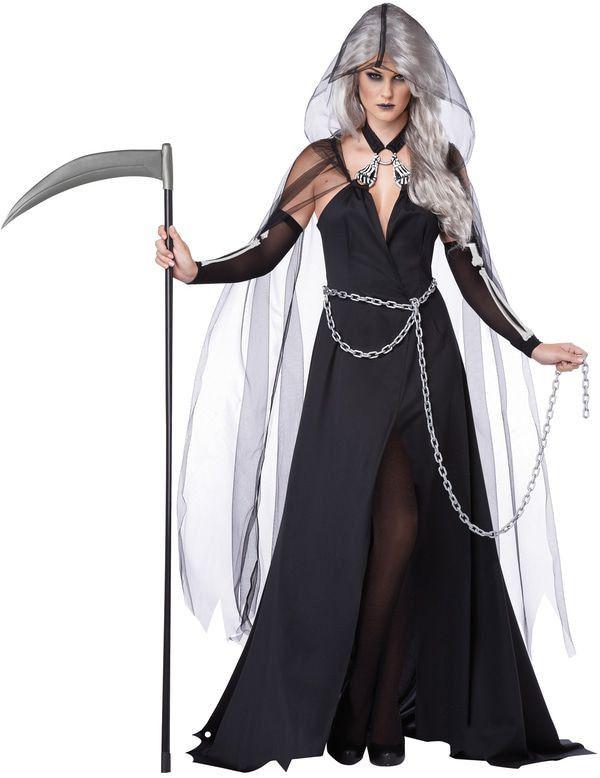 Lady Reaper De Dood Dames Kostuum Vrouw