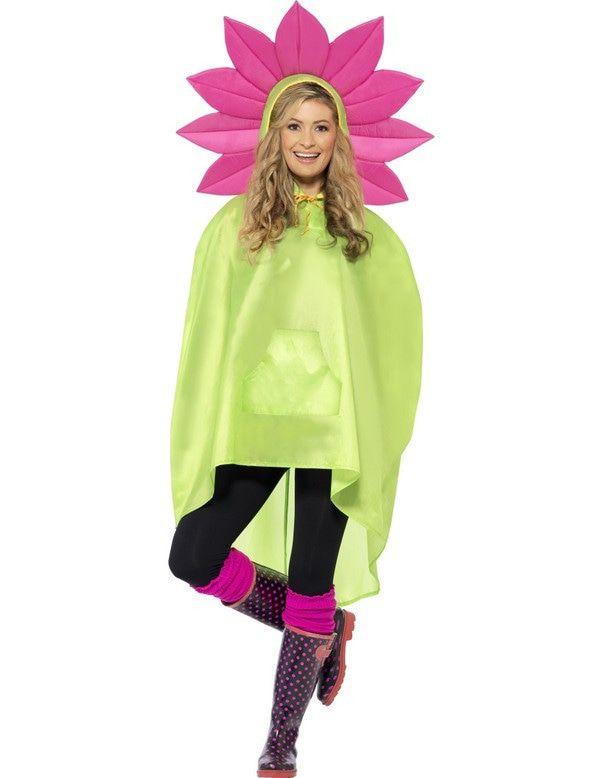 Hippie Bloemen Poncho Vrouw Kostuum