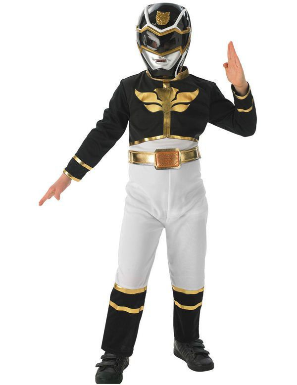 Kinder Zwart Power Ranger Megaforce Kostuum Jongen