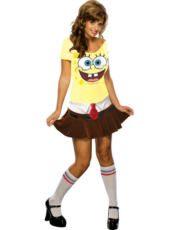 Volwassen Gek Spongebob Squarepants Jurkje Vrouw