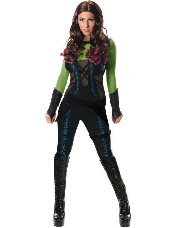 Volwassen Guardian Of The Galaxy Gamora Vrouw Kostuum