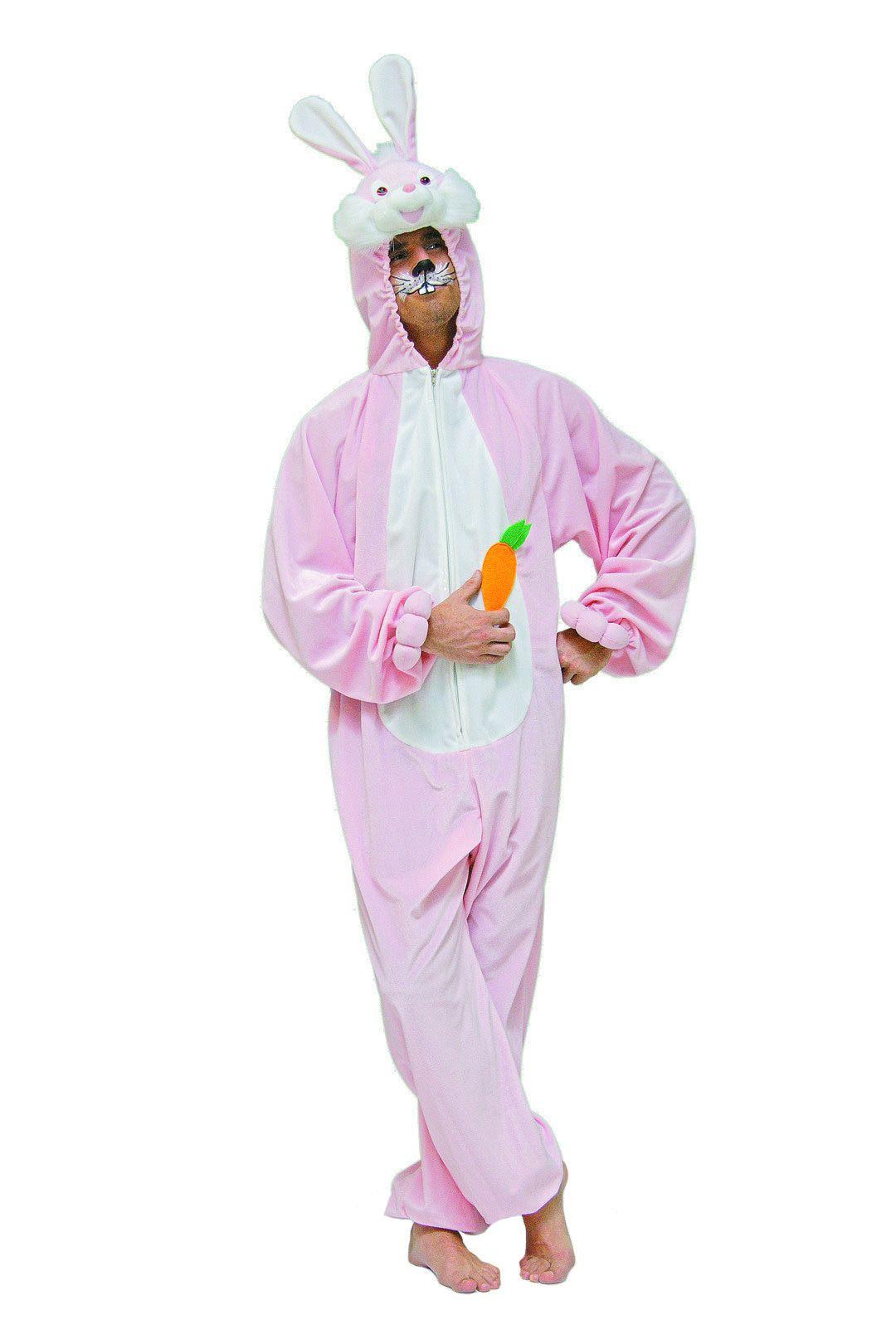 Schattige Pluche Bunny Roze Man Kostuum