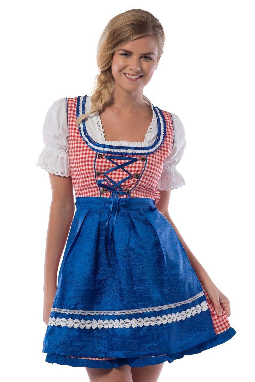 Hilda Hefe Bierfeest Dirndl Blauw Vrouw Kostuum
