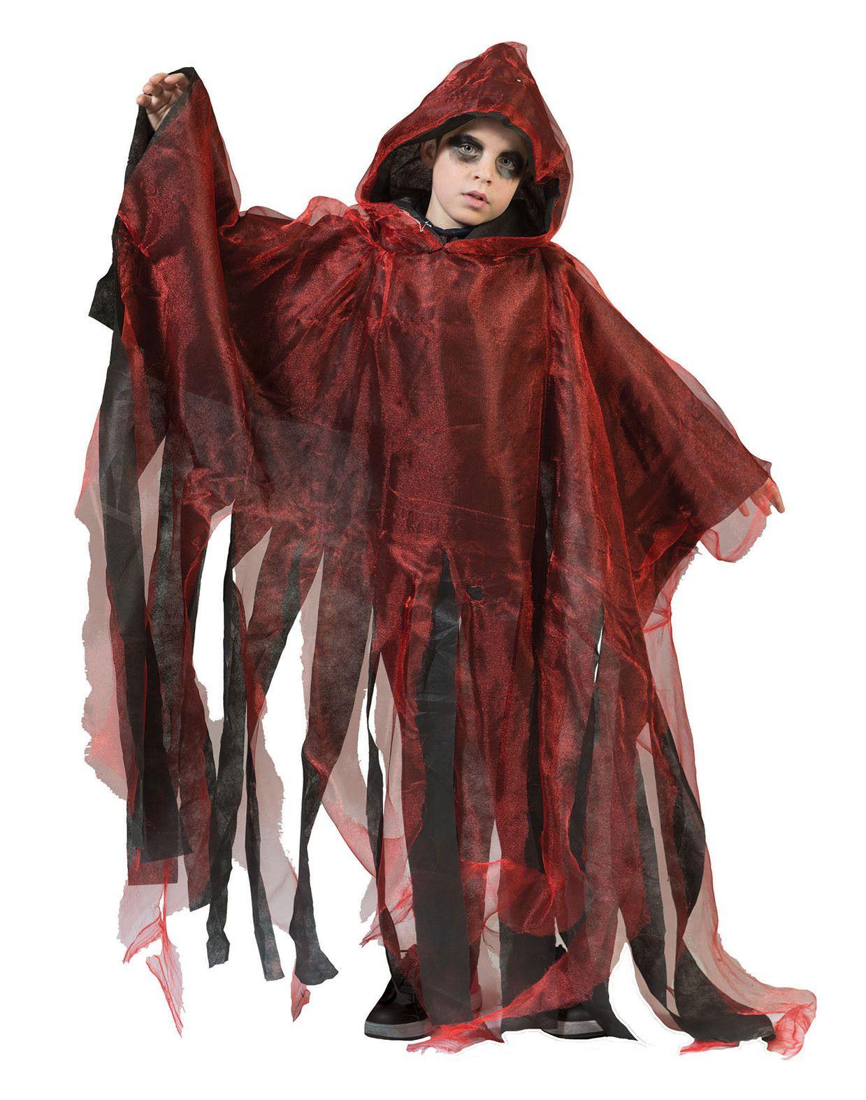 Rode Spookachtige Cape Kind Kostuum