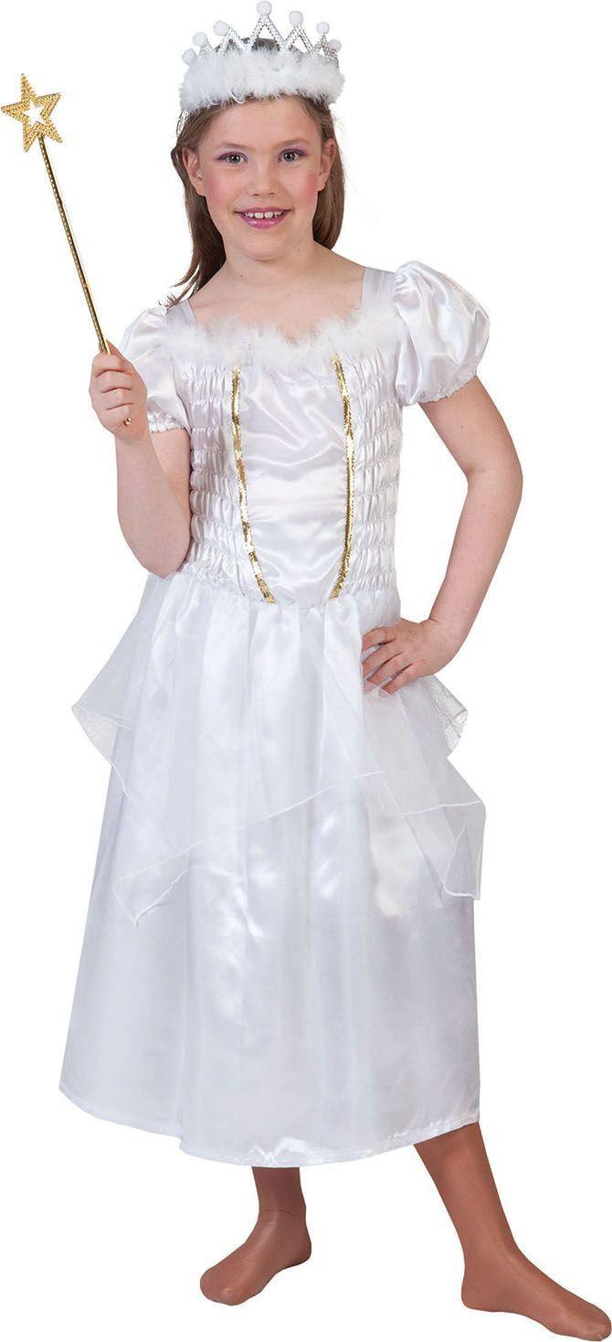 Witte Prinses Priscilla Meisje Kostuum