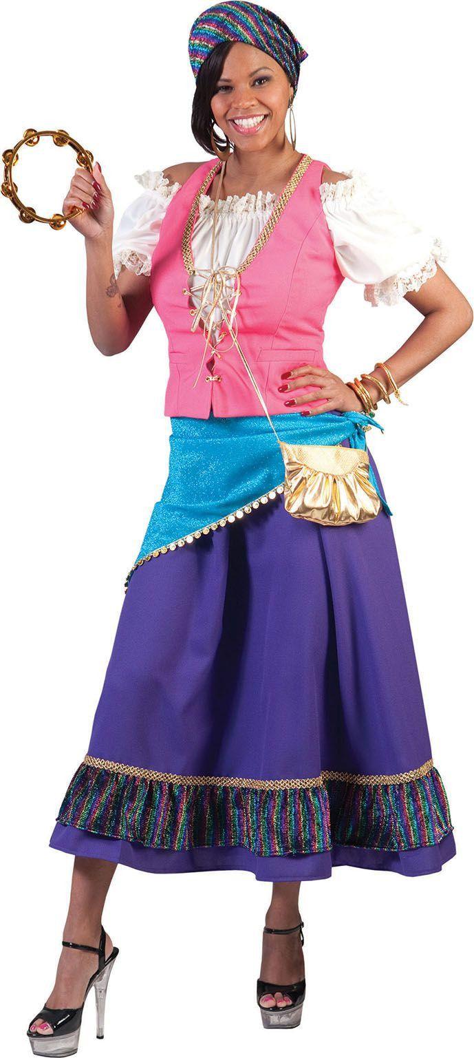 Zigeunerin Dame Bamboleo Vrouw Kostuum