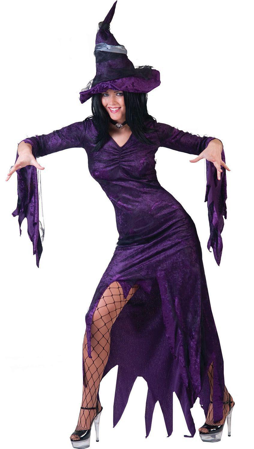 Purpuralla Toverspreuk Heks Vrouw Kostuum