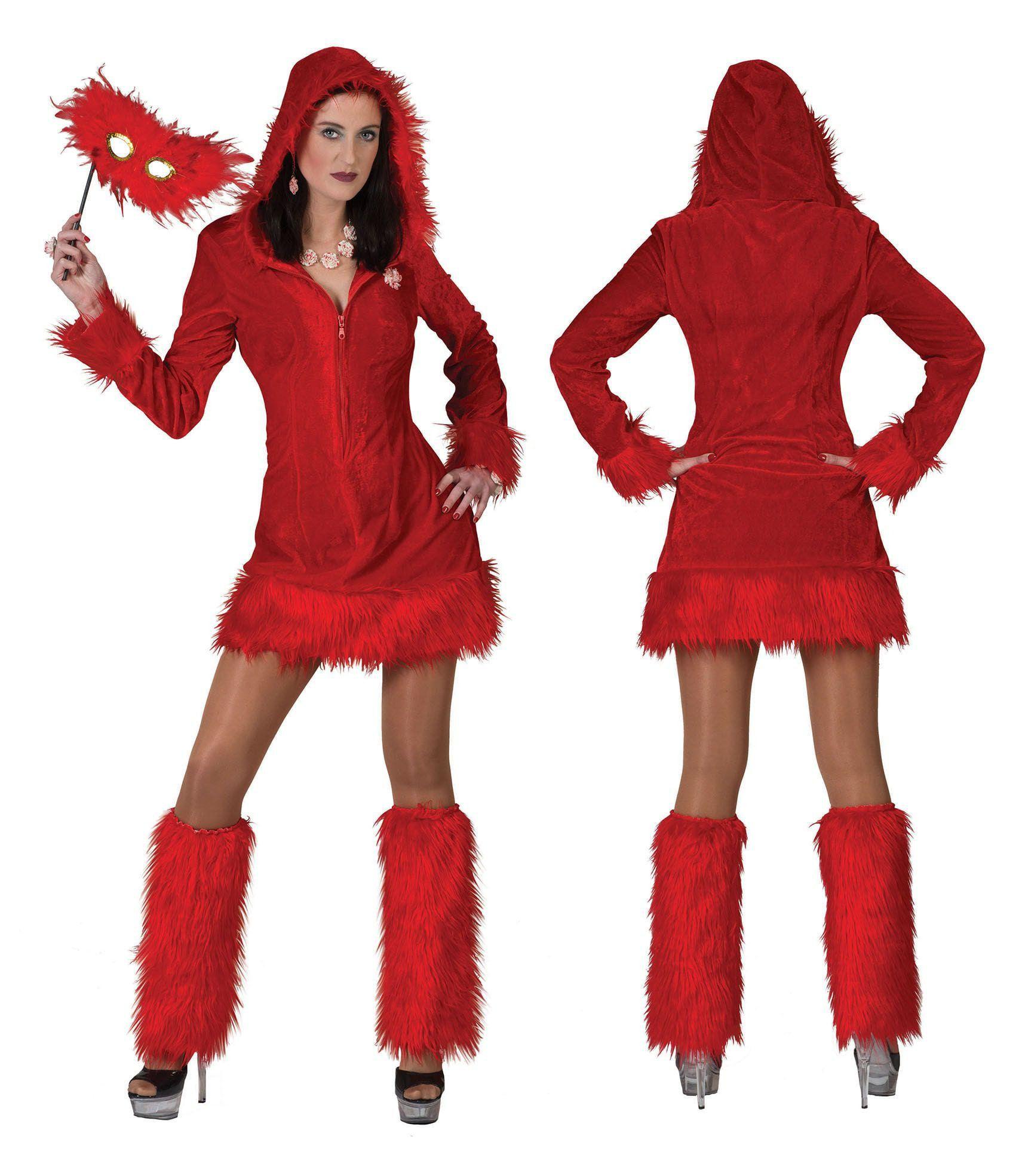 Aaibare Rode Duivelin Vrouw Kostuum
