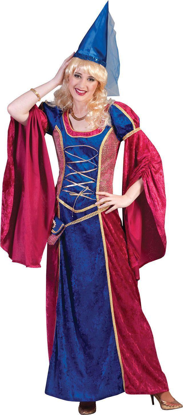 Middeleeuwen Fleur De Lis Hofdame Vrouw Kostuum