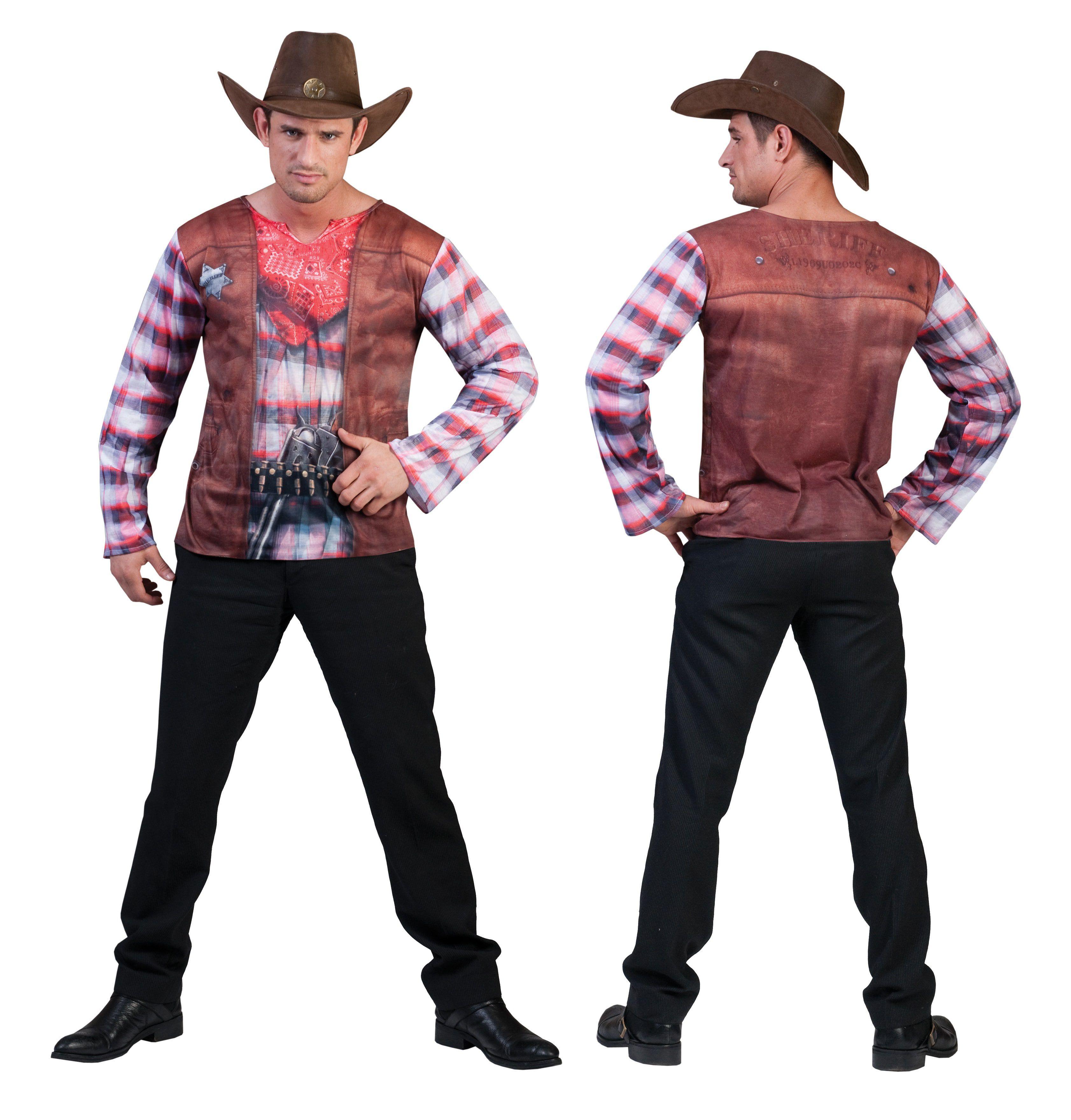 3d T-Shirt Cowboy Man Kostuum