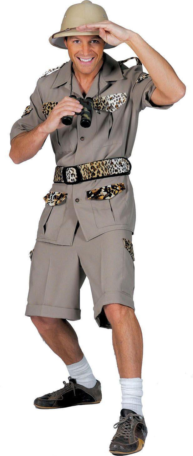 Safari Ontdekker Man Kostuum