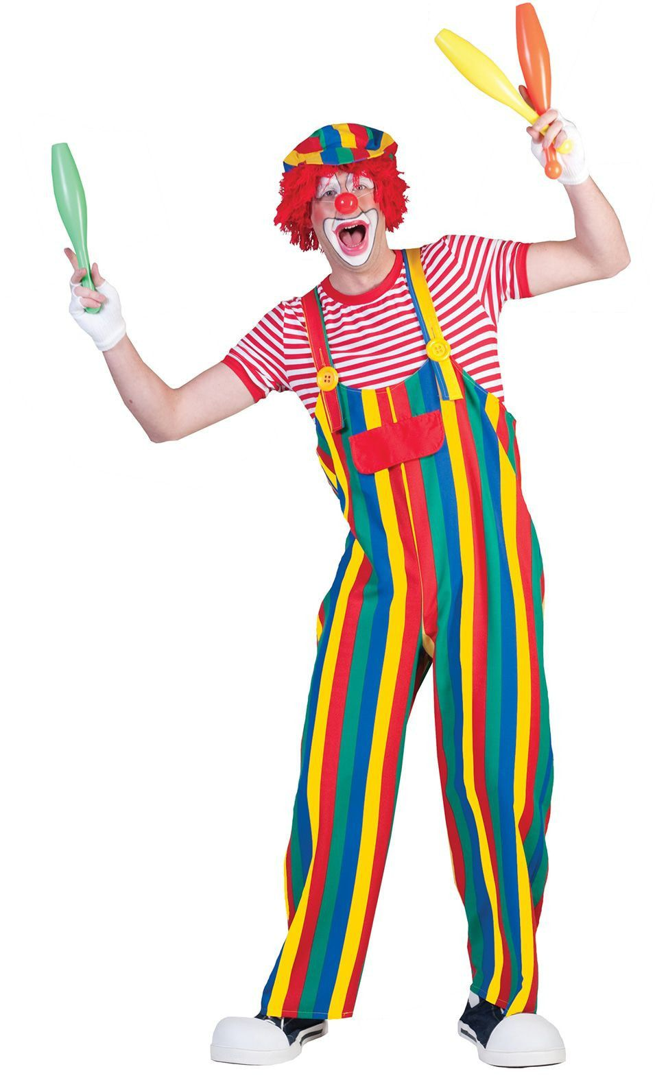 Strippy De Clown Overall Kostuum