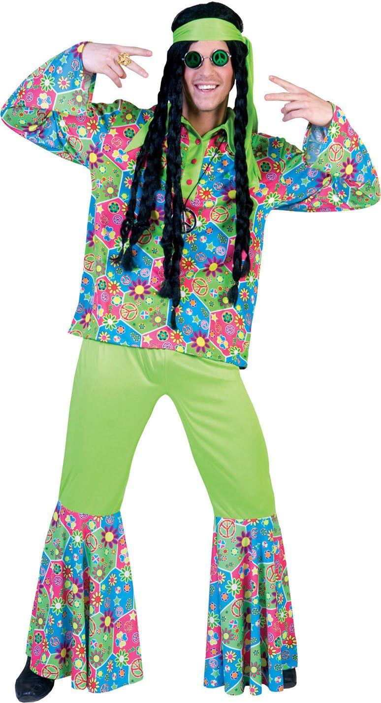 Flower Funk Hippie Man Kostuum
