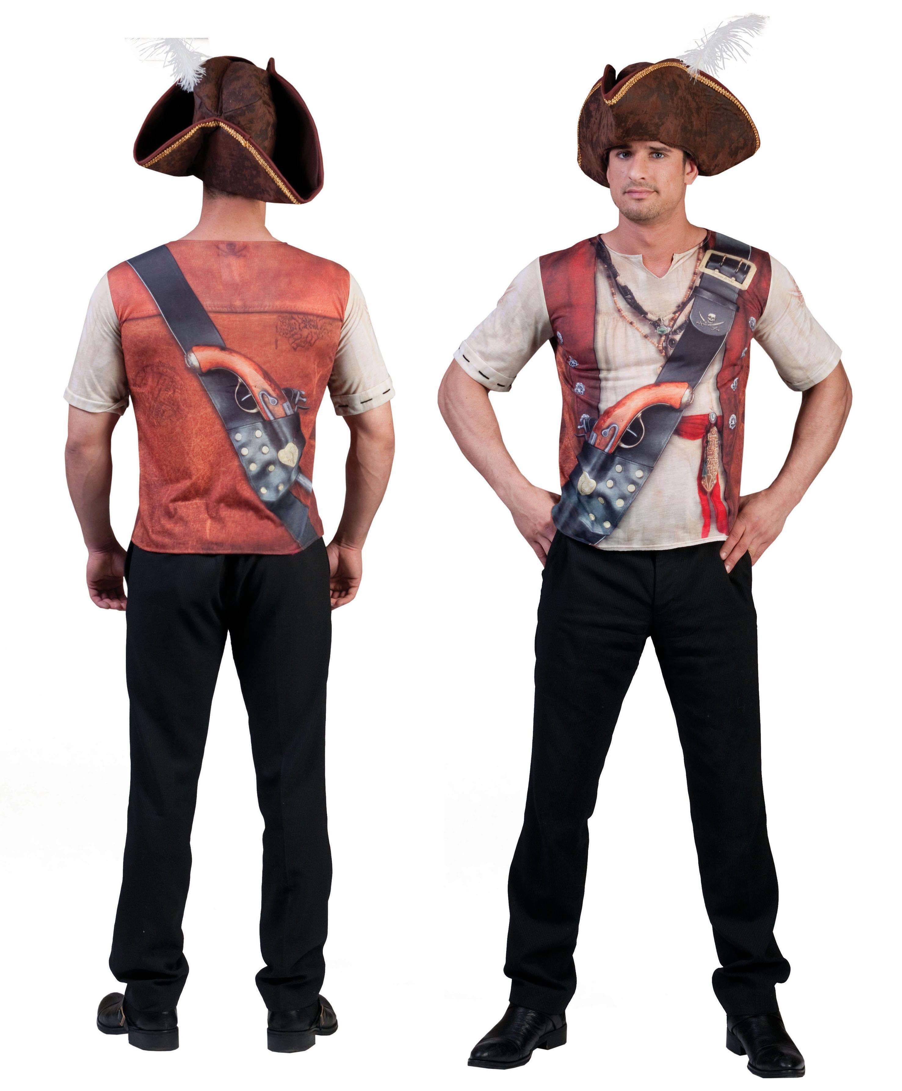 3d-Shirt Piraat Man Kostuum