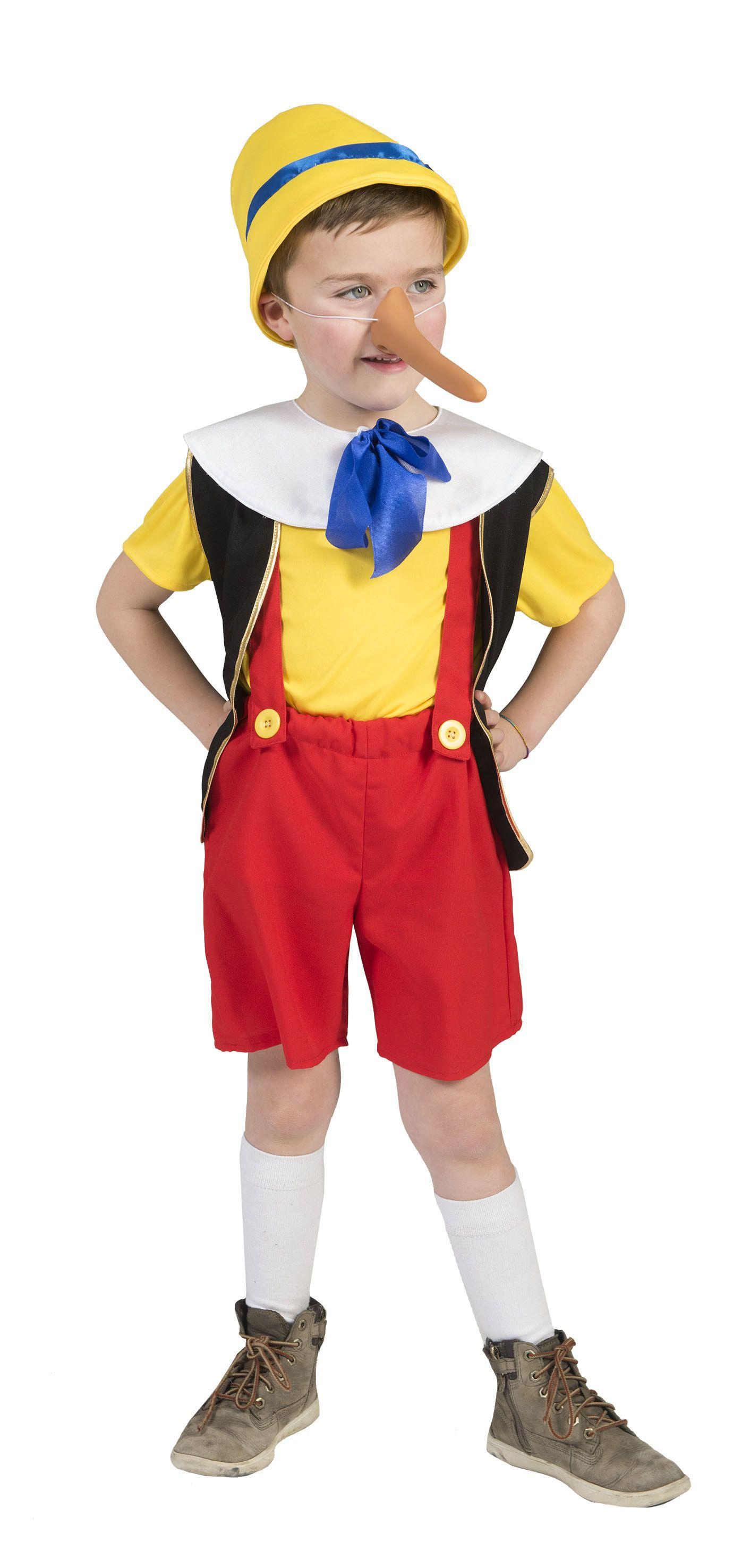 Traditionele Pinocchio Kind Kostuum