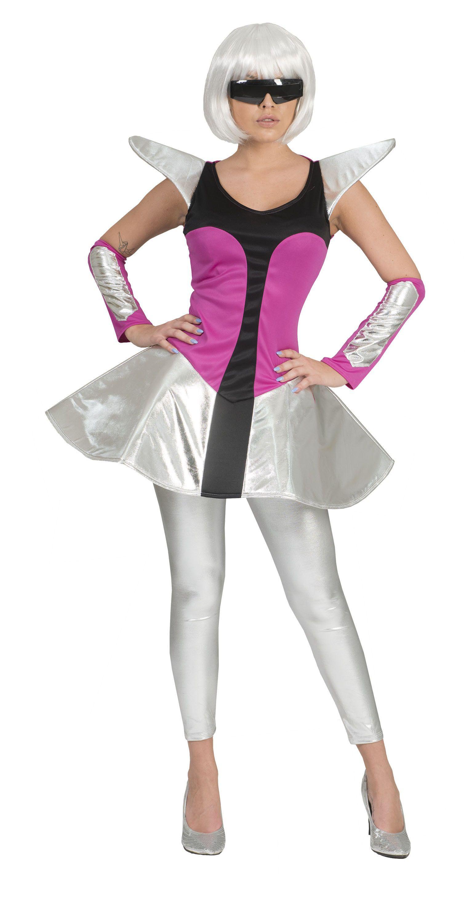 Space Dame Futuresque Vrouw Kostuum