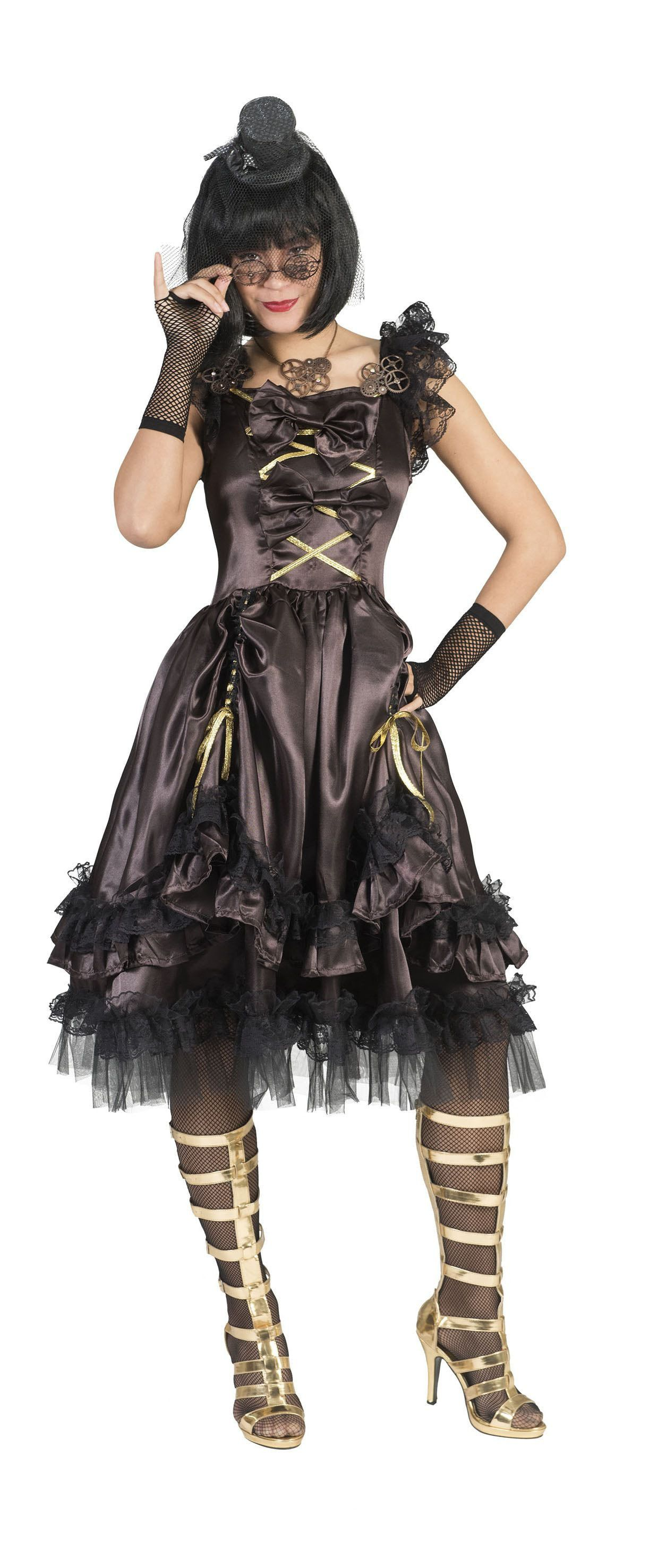 Steampunk Dame Techna Vrouw Kostuum