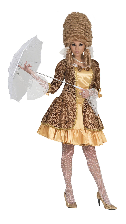 Gouden Barok Dame Vrouw Kostuum