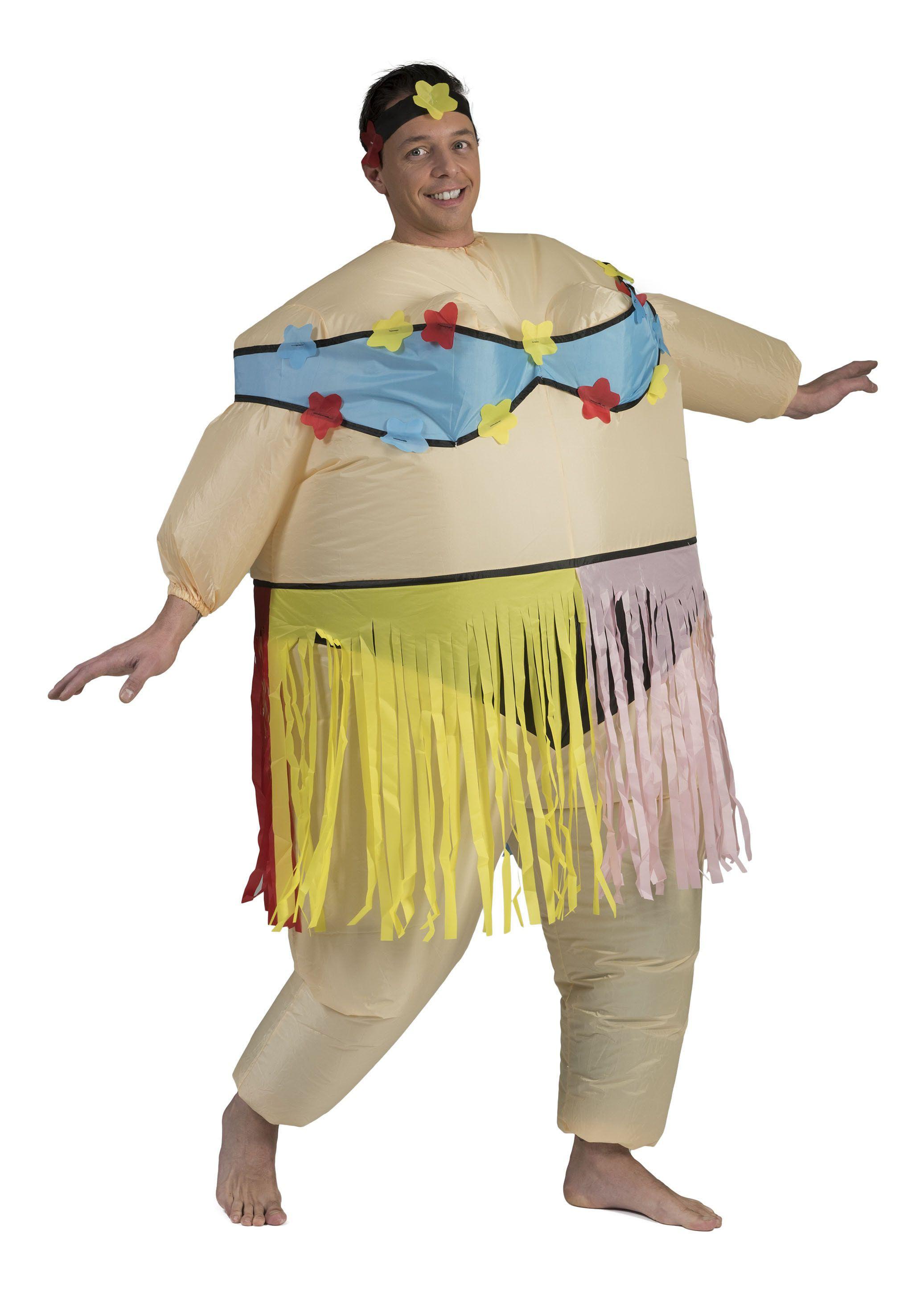 Dikke Hawaiiaan Man Kostuum