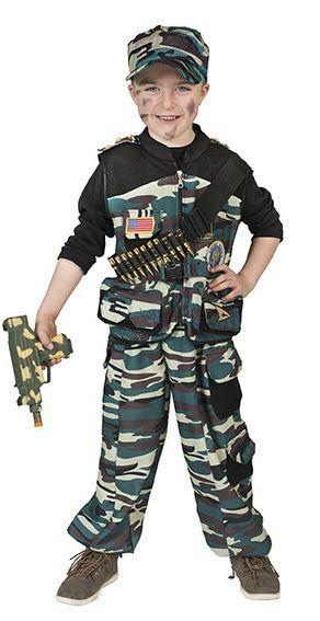 Machtige Marco Midden-Oosten Commando Jongen Kostuum