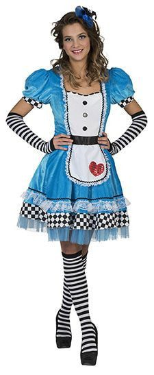 Alice Uit Het Sprookjes Wonderland Vrouw Kostuum