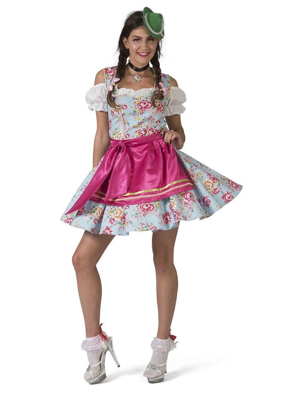 Tiroler Dirndl Rosalinde Vrouw Kostuum