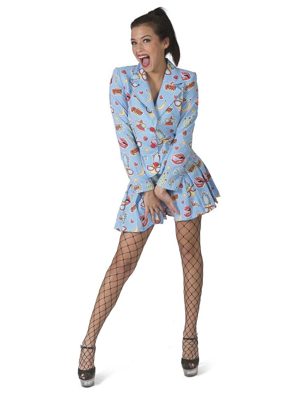 Zomers Komische Strip Vrouw Kostuum