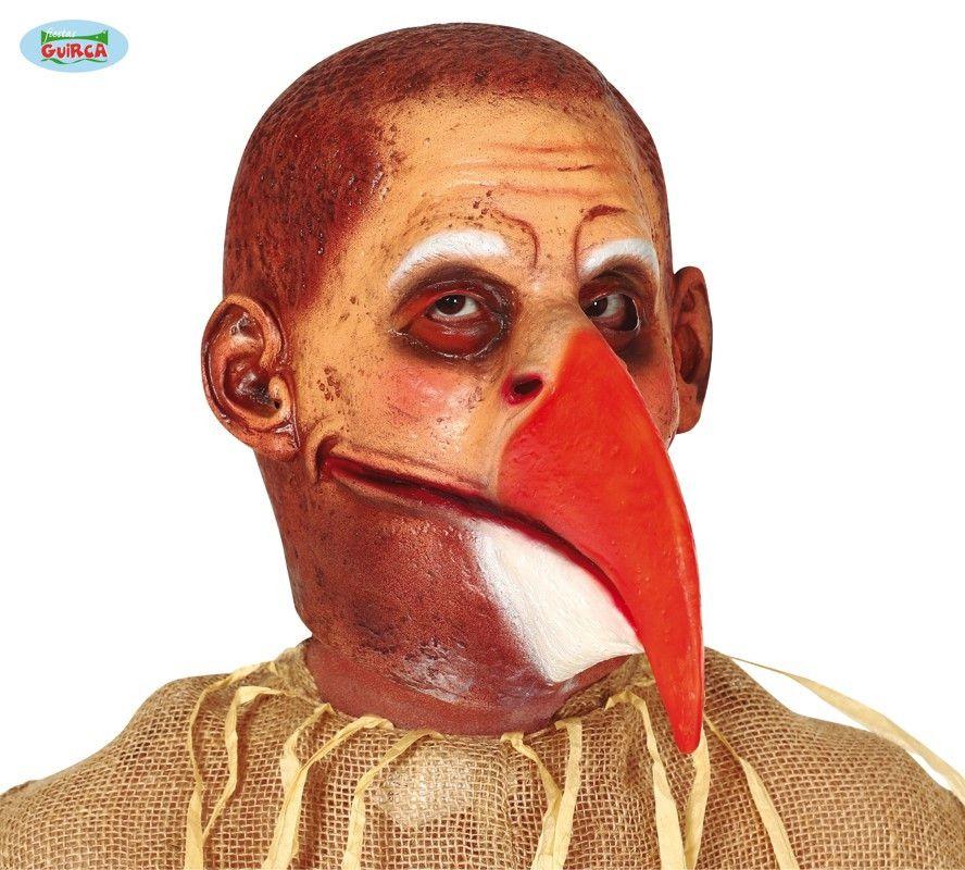 Latex Masker Vogel Met Grote Bek
