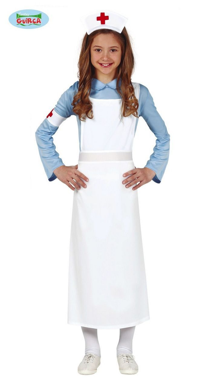 Verpleegster Hospitaal Oude Stijl Meisje Kostuum