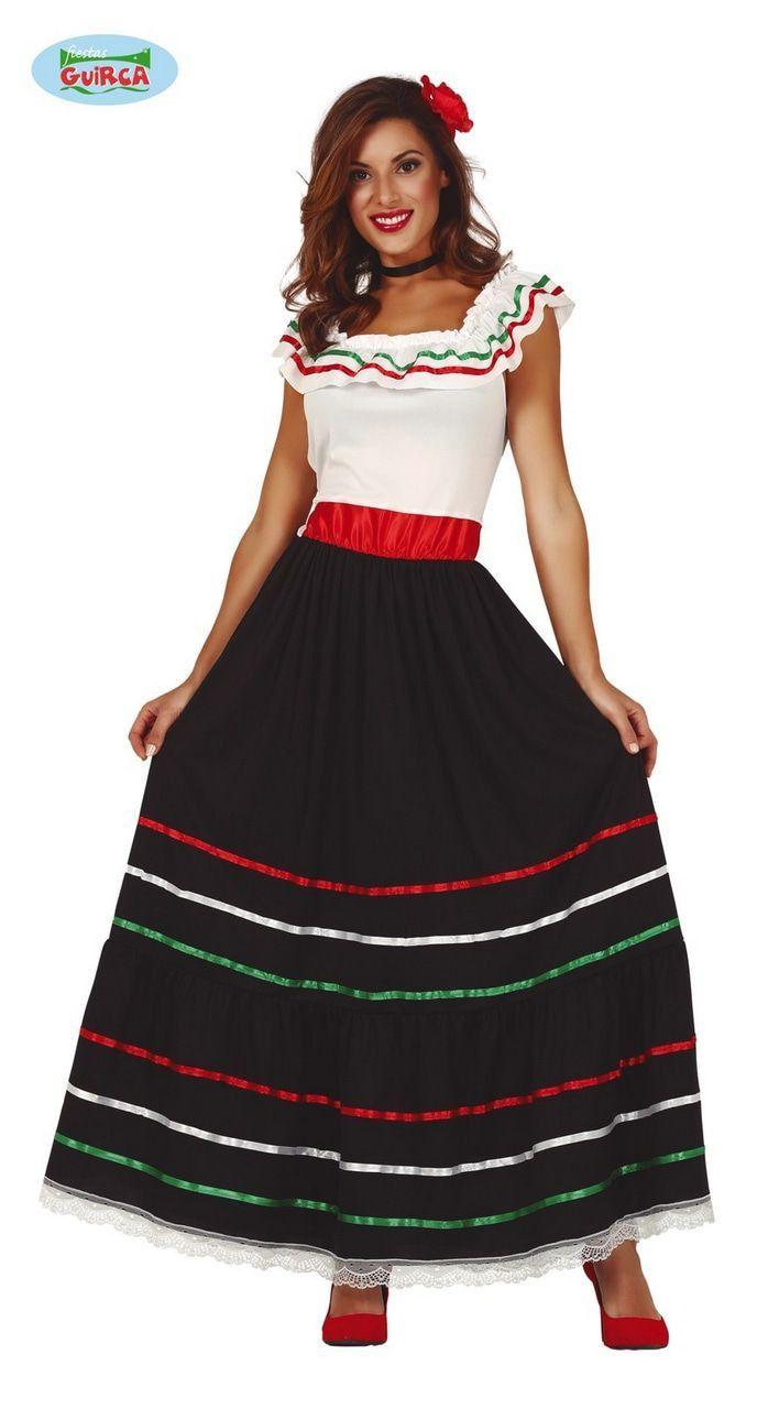Mexicaanse Senorita Dona Maribella Vrouw Kostuum