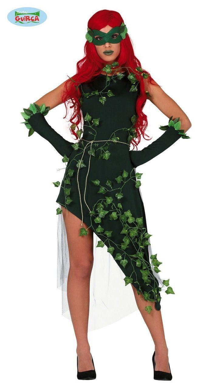 Superschurk Poison Ivy Uit Batman Vrouw Kostuum