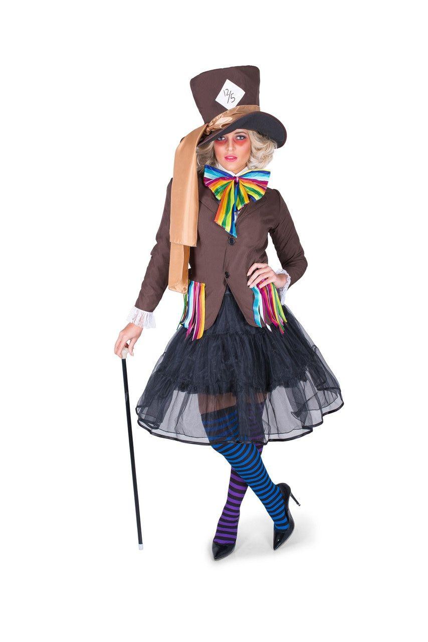 Bruine Mad Hatter Kolossale Hoed Vrouw Kostuum