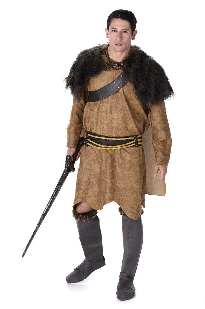 Stoere Barbaarse Strijder Vandaal Man Kostuum