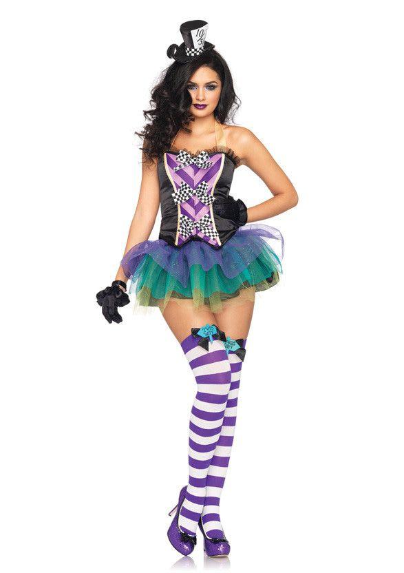Verleidelijke Mad Hatter Uit Alice Dames Set Vrouw Kostuum