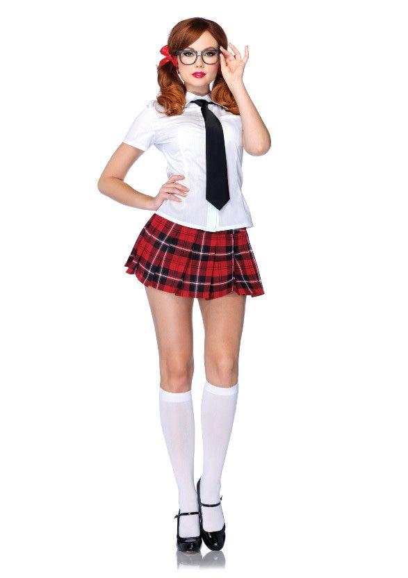 Erotisch Schoolmeisje Set Vrouw Kostuum