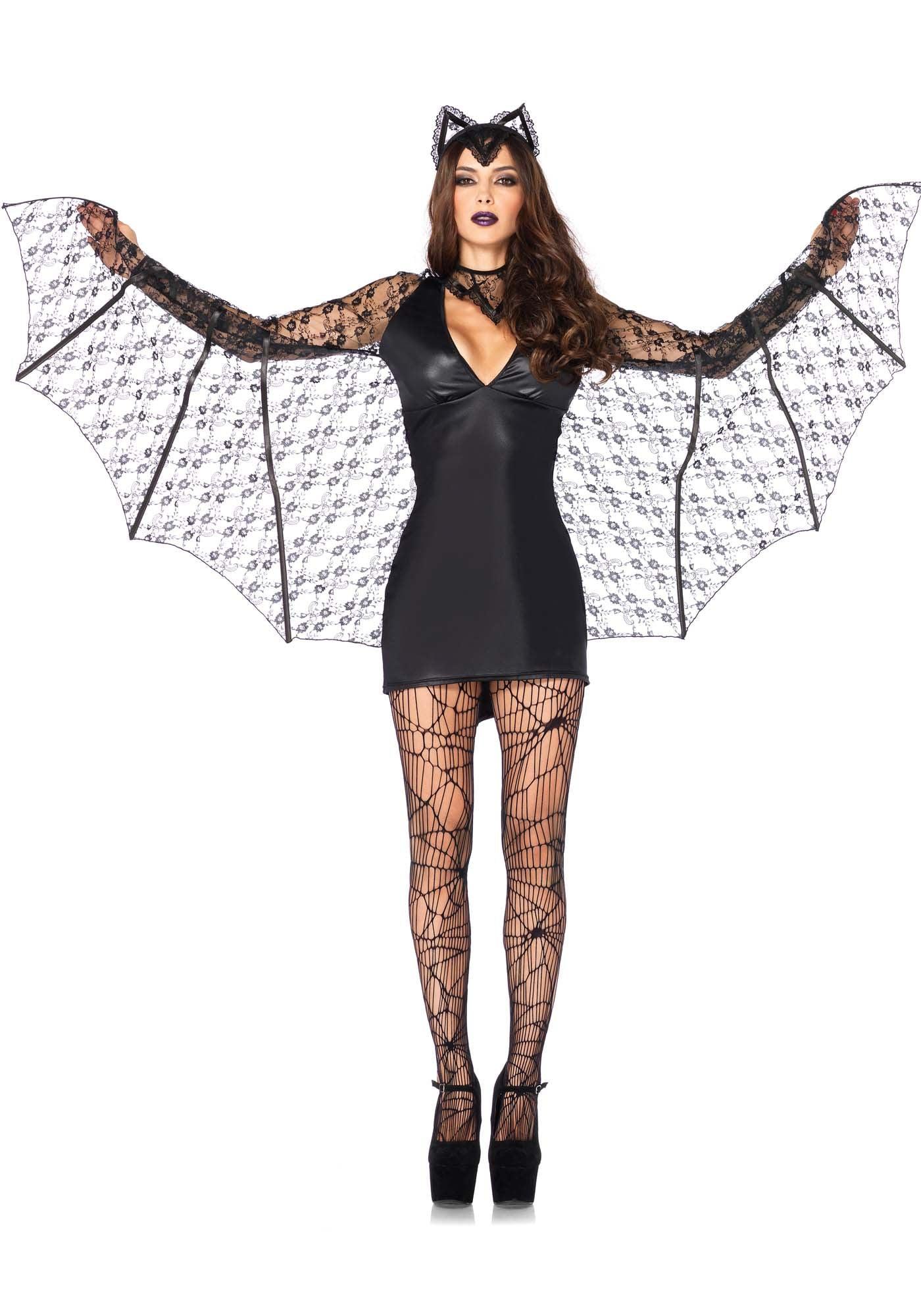 Sexy Vleermuisjurk Lederlook Vrouw