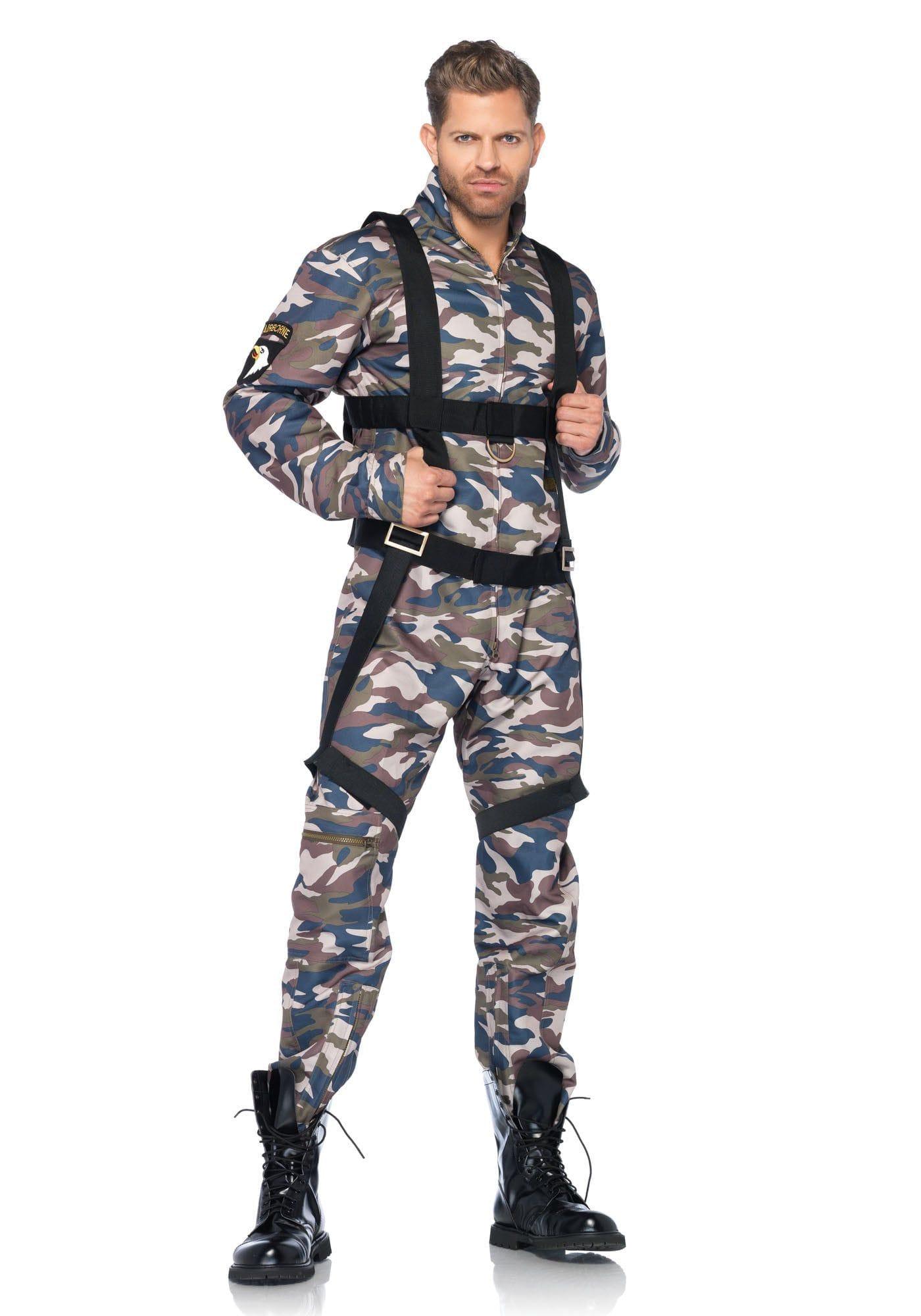 Stoere Amerikaanse Paratrooper Kostuum Man