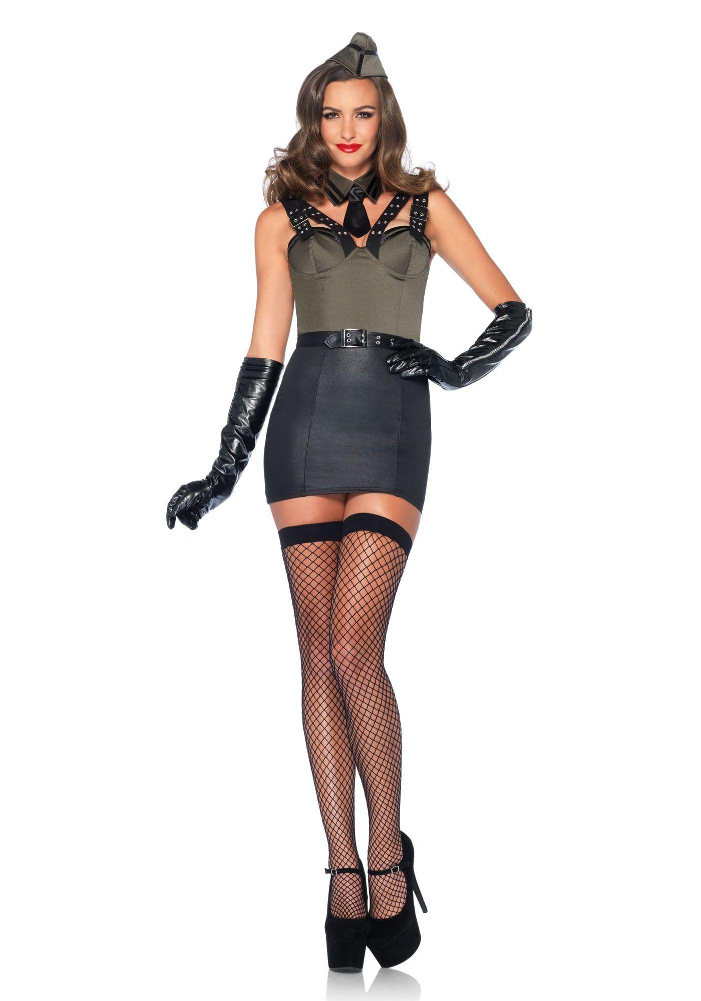 Sexy Vintage Dames Soldate Kostuum Vrouw